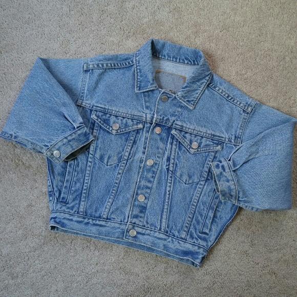 746cc299c GAP Jackets & Coats | Vintage 90s Distressed Denim Jean Jacket Xs 4 ...